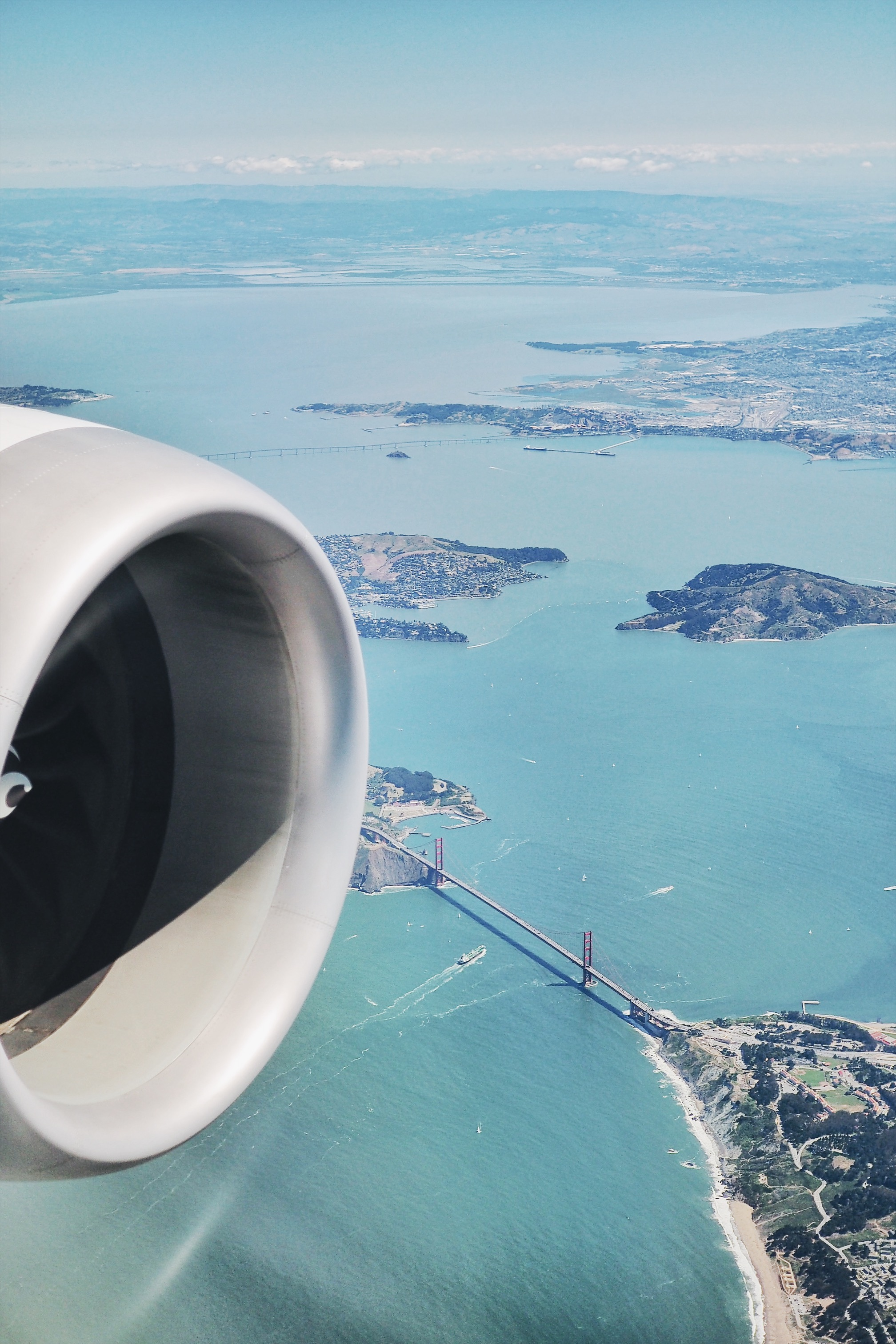 United Airlines, vue sur San Francisco